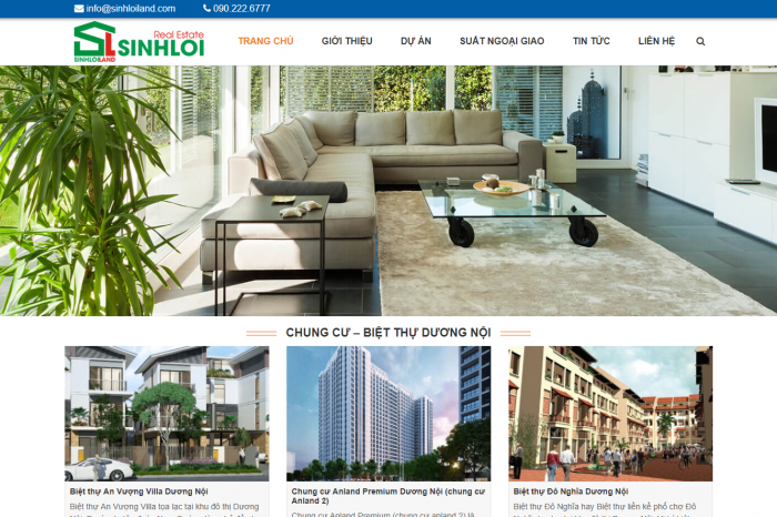 Website bất động sản SINHLOILAND