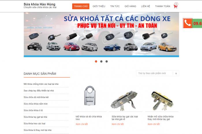 Mẫu website bán hàng suachuakhoa.net